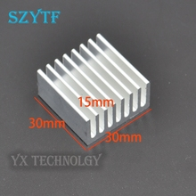 SZYTF  50pcs Aluminum fin heat sink 30 * 30 * 15MM White sawing