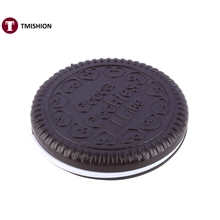 1pcs Cute Cookie Shaped Design Mirror Makeup Chocolate Comb new arrive