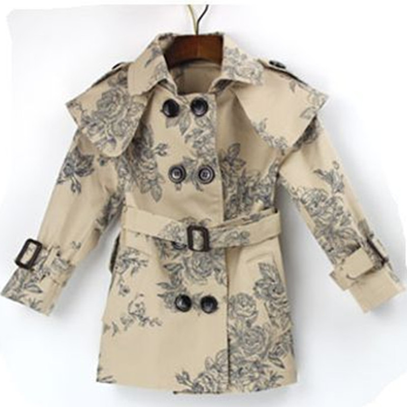Girls jacket Kids Clothes Spring Autumn Girls Trench Coat Children Kids Jackets Casual Infantil Winter Coats Girls Outwear