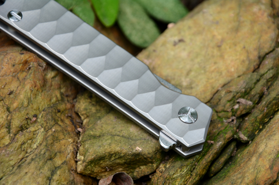Y-START new flipper knife 440C blade ceramic ball bearing washer titanium knife TC4 handle outdoor camping hunting pocket knife
