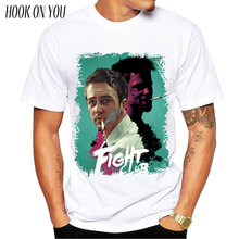 Fight Club T shirt 2017 Mens Fashion Brad Pitt tops tees man t-shirts plus size men shirt TV movie short sleeve T-shirt