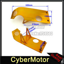 Gold Engine Base Skid Plate For Dirt Pit Bike Lifan YX 50cc 70cc 90cc 110cc 125cc 140cc Apollo Kayo Stomp Piranha Taotao(China)