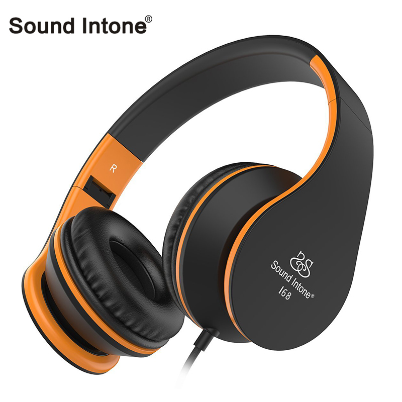 Sound Intone i68 Wired Gaming Headset Smartphone Headphone with Mic Volume Control Foldable Headsets for iPhone PC MP3 xiaomi mi(China)