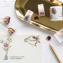 8 Styles Gold Foil Gild Washi Tape Japanese Cute DIY Decorative Sticker Scrapbooking Diary Planner Notebook Masking Tape