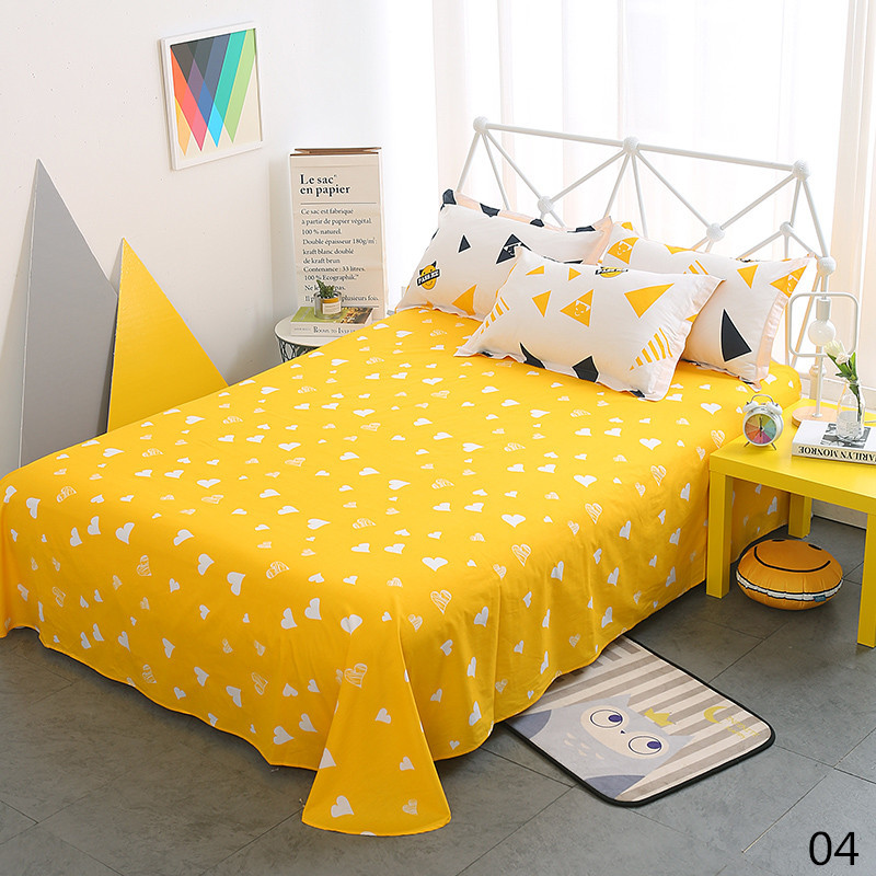 100% Cotton Modern Fashion Bed Flowers Flowers And Trees Printing Pattern 3pcs Bed Sheets Pillowcase Large Size 230x250cm 7