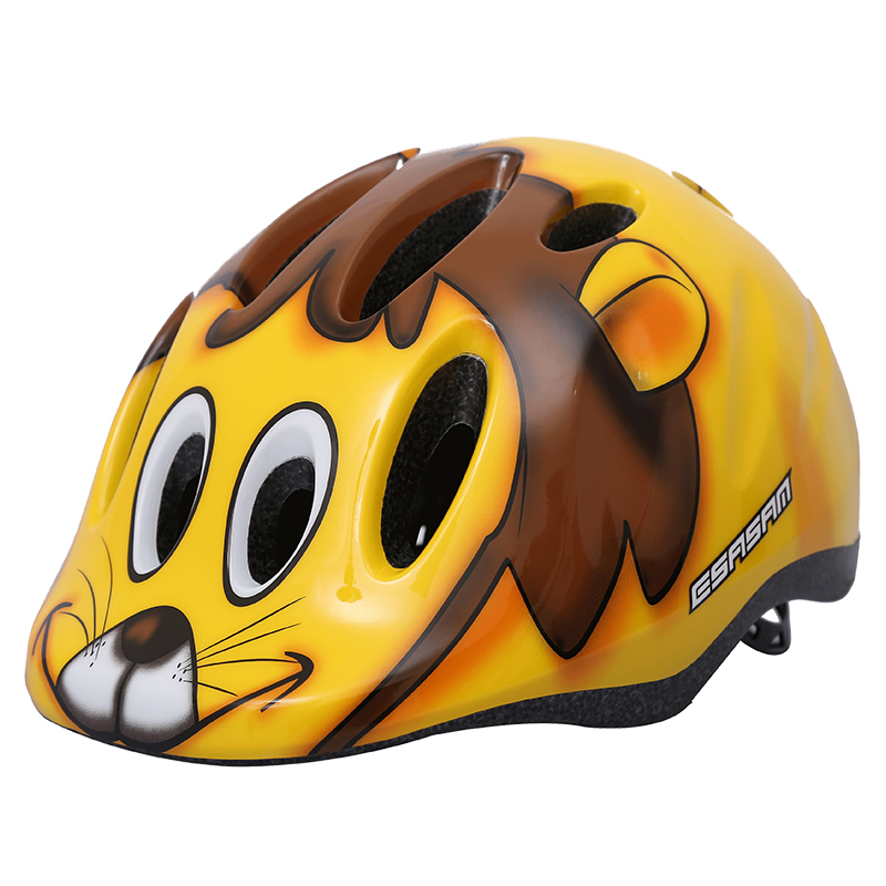 Lovely Children's Bicycle Helmet,Kids Riding Helmet Scooter Skating Roller Skating Speed Skating Helmet 3-8years Lion Road bike(China)