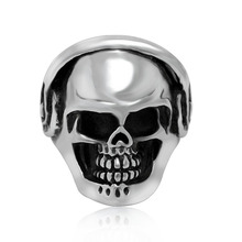 2015 Top Fashion Anel Sterling Fine Jewelry Europe Skull Ring Eyes Headset Ghost Punk Personality Nightclub Accessories Sa444
