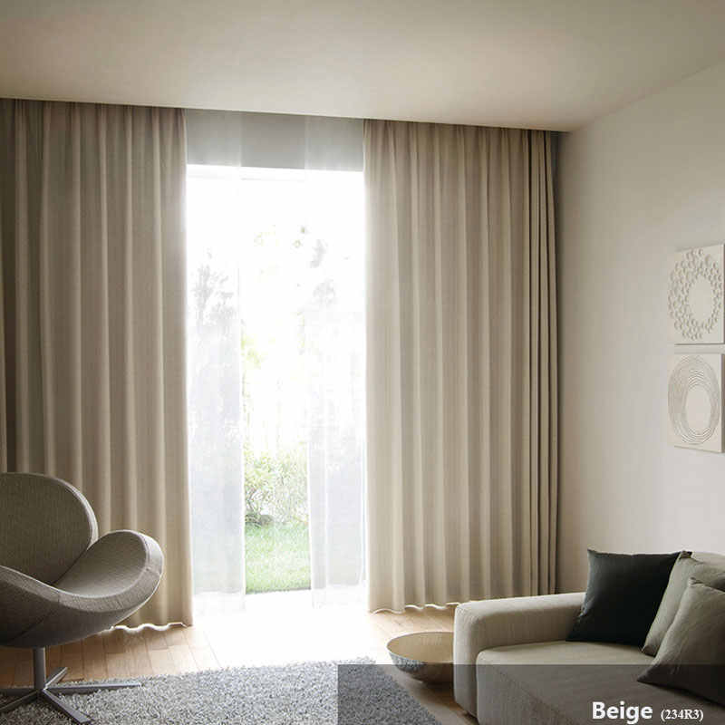 Modern Curtains for Bedroom Interior decoration home Window Treatments Solid Color Blackout Living Room Curtain Panel (A234)