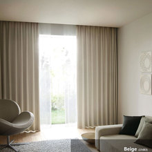 Modern Curtains for Bedroom Interior decoration home Window Treatments Solid Color Blackout Living Room Curtain Panel (A234)(China)