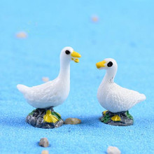 HERMOSO 1 PCS swan duck/fairy garden gnome animals/moss terrarium home decor/crafts/bonsai/doll house/miniatures(China)