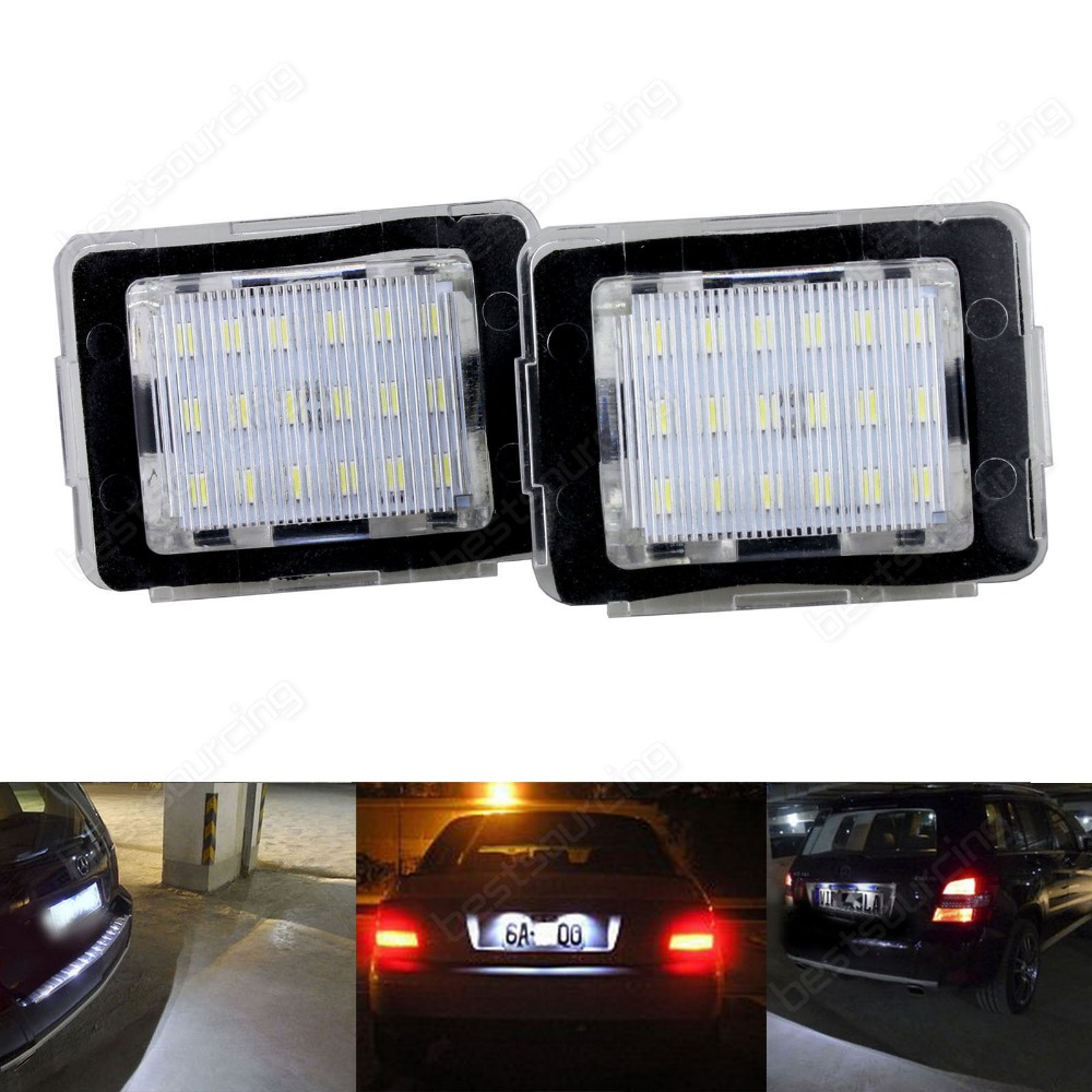Mercedes Canbus LED Number Plate Light X166 GL63 W166 ML63 C292 R172 SLK55 MercedesBenz(CA234)<br>