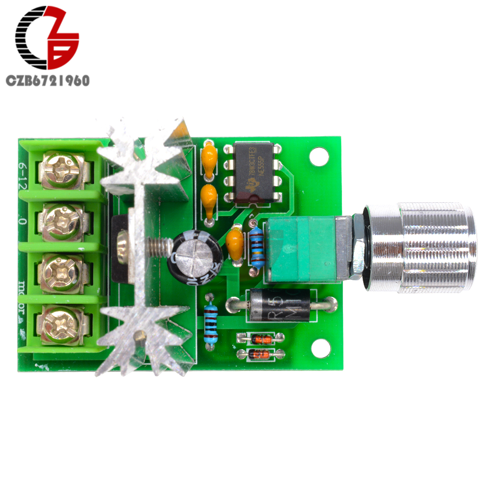 High Power 6A 6V-12V PWM No-Polarity DC Motor Speed Regulator Controller Board Speed Motor Control Switch Board 7