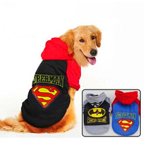 S/M/L/XL/2XL/3XL/4XL Cheap brand superman clothes for big pet large dog thickening costume pet products for winter