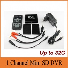 Vehicle Mini CCTV DVR Car/Bus Mobile 1CH DVR Surveillance Video Recorder Max Up to 64GB SD Card SD Recorder