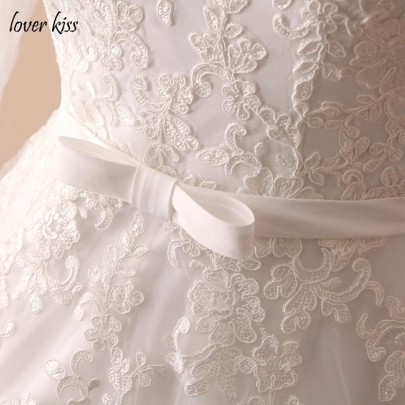 Lover Kiss Vestido De Noiva Custom Sheer Tulle Long Sleeve Wedding Dress Corset Back Lace Ball Gown Bridal Gowns For Weddings 14