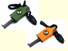 3 in 1 Flint Stone Survival Magnesium Fire Starter Lighter+Whistle +Compass Outdoor Camping Travel Kit