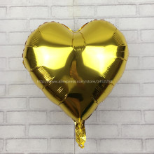 XXPWJ The new children's toys, party loving wedding supplies aluminum foil balloon 18 inch heart-shaped balloons wholesale W-005(China)