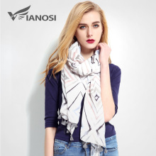 [VIANOSI] Womens Scarves Fashion Tassels Cotton Scarf Luxury Foulard Femme Brand bandana Large Scarf Women Cachecol VR019(China)