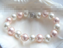 09827      white pink south seashell pearls bracelet