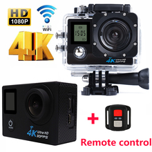 2017 Outdoor Waterproof 4K Wifi Action Camera Remote control Double Screen go pro Diving Bicycle cam Cameras Deportiva Helmet
