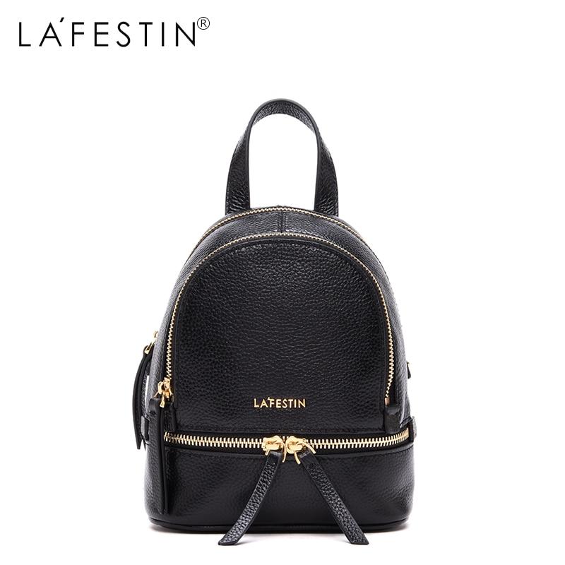 LA FESTIN Women Backpack Mini School Bag Female Small Backpack Women Leather Backpack<br>