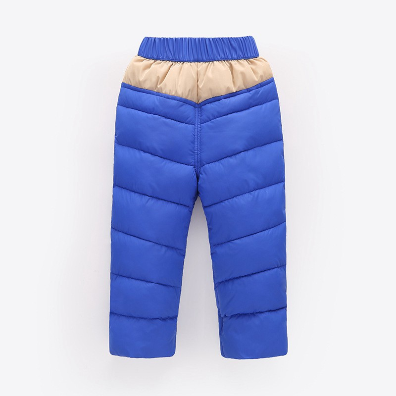 COOTELILI 80-130cm Warm Winter Boys Pants Trousers For Kids Elastic Waist Cotton Thicken Snowsuit Baby Pants Boys Clothes (10)