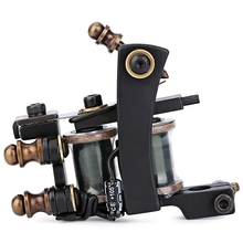 Professional Iron 12 Wrap Coil Tattoo Machine Liner Gun Classic Frame Carbon Steel Tatoo Motor Gun Instrument Tools For Beginner