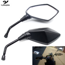 Universal CNC Motorcycle Mirror Scooter E-Bike Rearview Mirrors Electrombile Black Side Convex Mirror 8mm 10mm Moto Bike Mirrors(China)