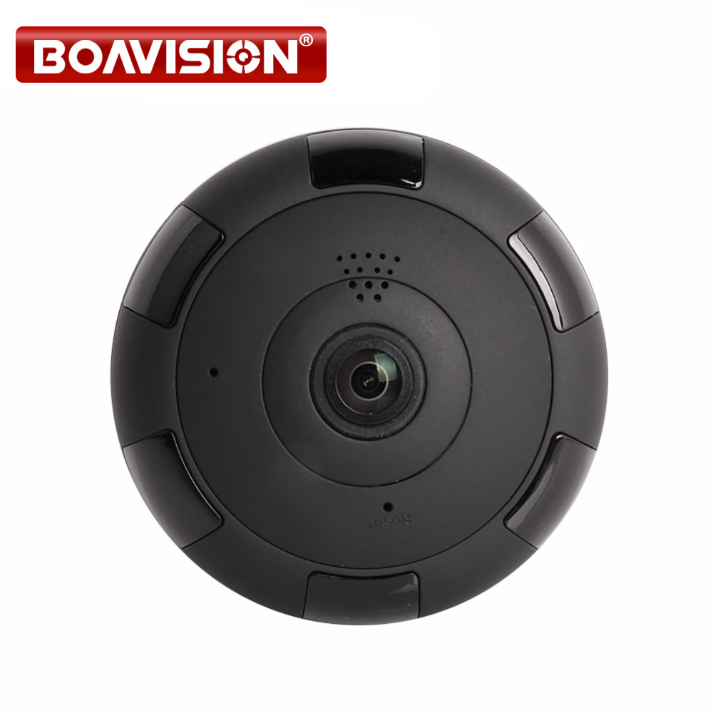V380 HD 1280*960P VR WIFI IP Camera 1.3MP,Support Max 64GB TF Card,P2P,Two-Way Audio IR 360 Degree IP CAM WI-FI P2P BOAVISION<br>
