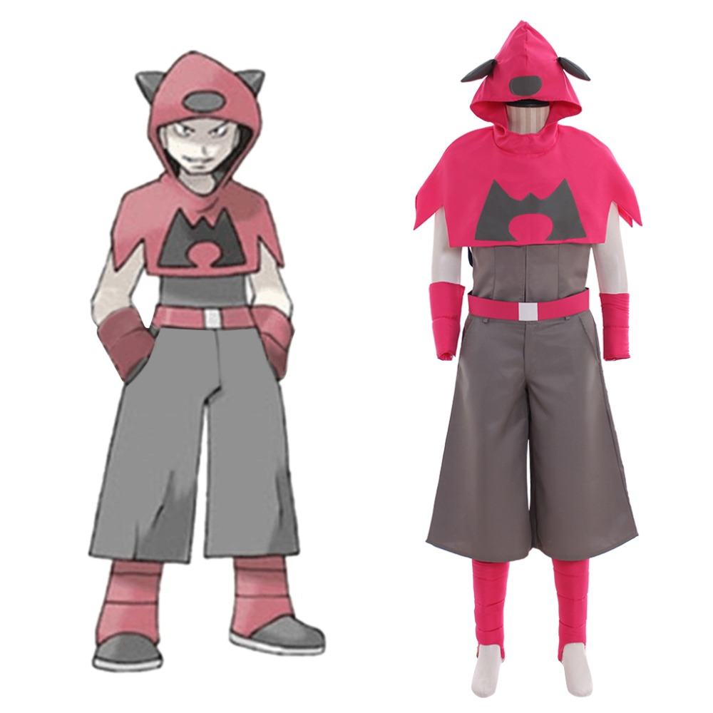 Cosplaydiy Anime Cartoon SPECIAL Pocket Monsters Team Magma Mens Suit Costume Adult Halloween Cosplay Costume L320