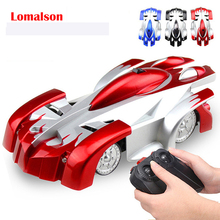 Lomalson Latest RC Wall Climber Car Xmas Gift Toy, Racer 4CH Remote Control Climbing Rocket Toy, Fast/Furious/ Drifting Car Toy(China)