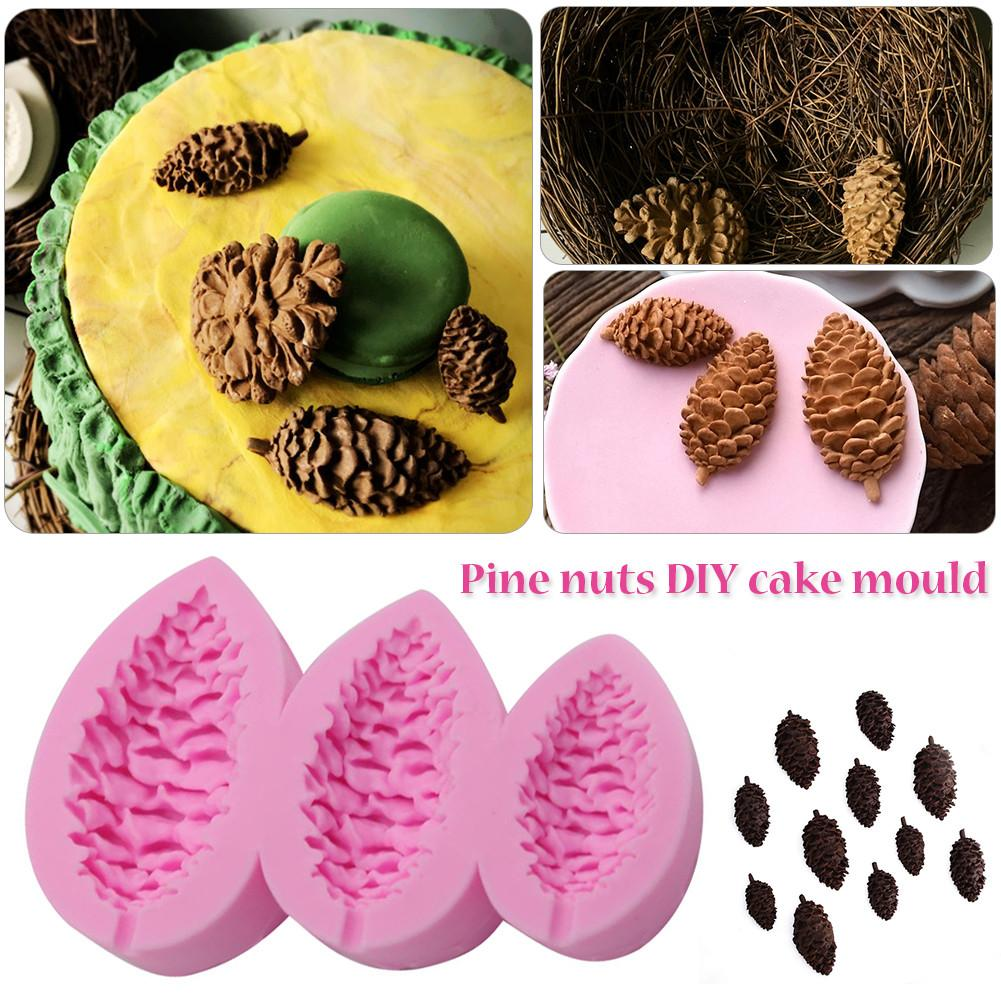 craft clay mold 3 pine shape fondant DIY decorations craft accessories tool plaster candle epoxy silicone mold clay