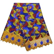African Fabrics And Textiles Factory Price Factory Price Hojilou New African Wax With Lace