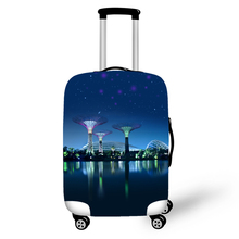 ONE2 city series luggages cover cheap price custom polyester spandex blue hot sell luggage wheel cover for boys girls student