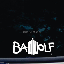 Badwolf die cut vinyl 7'' decal for windows, cars, trucks, tool boxes, laptops, MacBook virtually any hard, smooth surface White