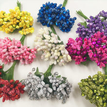 12 PCS/artificial light berry bubble stamens wedding bouquet New Year decoration, DIY wreath float collage artificial flowers(China)