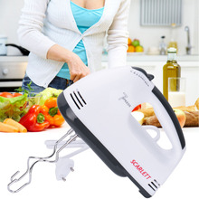 7 Speeds Hand Mixer 180W White Egg Beaters Electric Mixer EU Plug Kitchen Supplier 1pcs High Quality Egg Beater Electric Mixer(China)