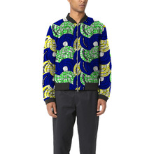 Brightly colored african men baseball jacket africa print print stand collar dashiki coat patchwork african clothes customized