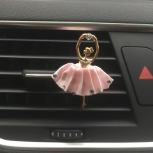 Rich color Lovely ballet girl Automotive styling Ornaments Automobile air conditioner perfume clip Lady car perfume 100 Original