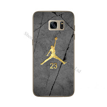 Phone Covers For Samsung Galaxy S5 S6 s6 edge S7 s7 edge Flight Man Micheal Jordan 23 Player Design TPU Silicone Soft Case Cover(China)