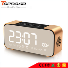 Protable Bluetooth Speaker Stereo Bass boombox LED Display Handsfree Mic FM Alarm Clock TF Speakers for Xiaomi Mobile Phones PC