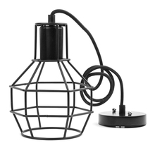 Retro Industrial led pendant Light kit Wrought Iron Bird Cage hanging lamp black gold E27 holder for hotel pub art decoration(China)