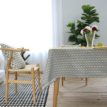 European Pastoral Fresh Arrows Cotton Linen Table Cloth Rectangular Home Kitchen Dinning Tablecloths Desk Coffee Table Cover(China)