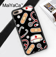 Nurse Medical Medicine Health Heart Coque Accessories For iPhone 6 6S Plus 7 7 Plus 5 5S 5C SE 4S Case Soft Rubber Phone Cover