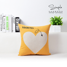 Simplicity Geometric Patterns Pillow Yellow Black White Linen Sofa Back Cushion Pillow For Home Office Decor