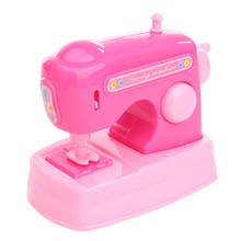 Pretend Toy Dollhouse Miniature Sewing Machine Pink Furniture Toys for Doll House Decor Children Toys Accessories