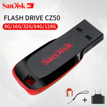 SanDisk USB Flash Drive Blade Shape U Disk 4GB 8GB 16GB 32GB 64GB 128GB Pen Drives USB 2.0 Memory Stick SDCZ50 for Tablet &Phone(China)