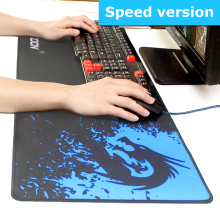 Game Mouse Pad Natural Rubber Large Gaming Mouse Pads Locking Edge Mouse Mat Speed Version For Internet Bar Mousepad(China)