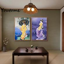 japanese art painting canvas posters and print japan canvas Picture Paint on Canvas Prints home decor,beautiful women portraits