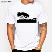 KOMNUDT Summer New Men's Short Sleeve T-Shirt Fashion O Neck T Shirt Tiger Animal 3D Print Style Men Short Sleeve Big Code Mens(China)